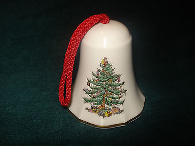 SPODE ENGLAND FINE BONE CHINA HOLIDAY CHRISTMAS TREE BELL ORNAMENT / COLLECTIBLE Spode China Christmas Tree Ornaments