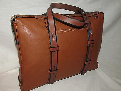 Tumi 68917 Mission Harrison Leather Slim Briefcase Mens