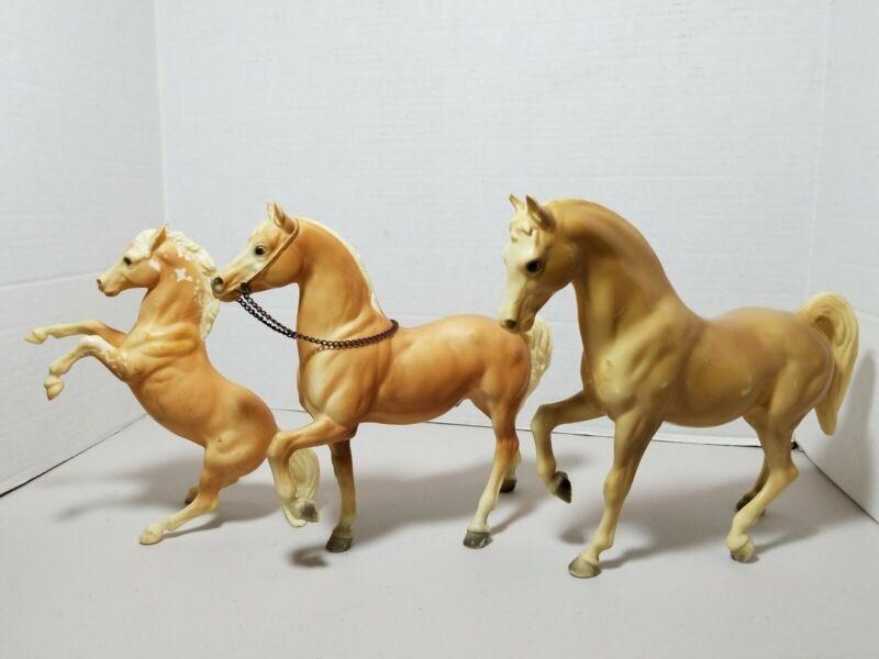 Lot Of 3 Vintage BREYER HORSES fighting stallion & RARE ? HTF 9×12 & 8x7
