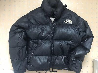 Mens North Face Nuptse Down Puffer Jacket  Black Well Worn Size Uk Medium
