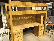 Single bunk and desk/bookshelf and double drawa Blackburn Whitehorse Area Preview