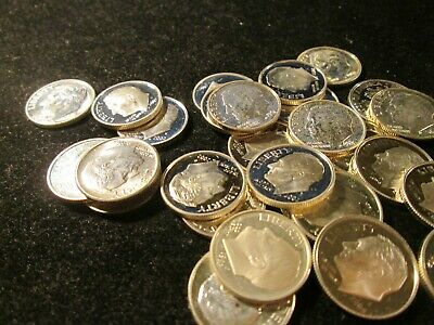 30 MIXED PROOF DIMES SILVER FROM 1960 S TO 2000 S MIXED DATES TOP - $68.39