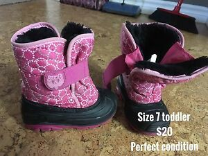 Kamik size 7 toddler winter boots