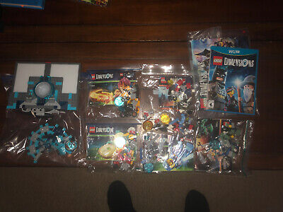 Lego Dimensions Lot & Wii U Portal Base + Video Game Disc Characters