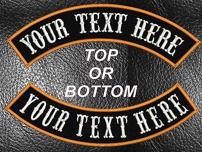 """10/"""" Custom Embroidered Top Rocker Biker Patches"""