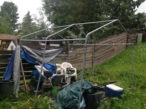 Steel frame for shed or green house