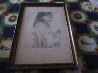 Acquaforte Bruno Caruso 50x35-incorniciata -  - ebay.it
