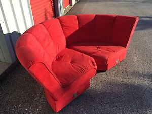Red Couch Sectional