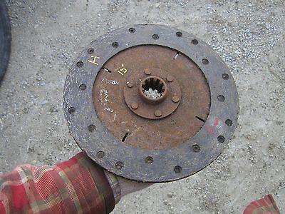 Farmall H Hv W4 I4 Ih Tractor 10 O.d. 10 Spline Woven Clutch Disc Real Good Ihc