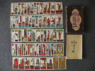 1972 Hoi Polloi Tarot Card Deck w/Instruction Booklet & Box (70) Cards