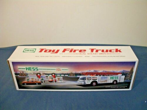 1989 Hess Fire Truck Bank, New In Box
