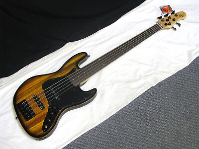 MICHAEL KELLY Custom Collection Element 5-string electric BASS guitar NEW -Zebra Zeb Zebra String