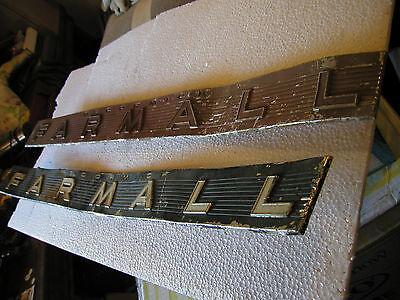 Mccormick Farmall 504 656 706 806 Tractor Ih Original Front Chrome Hood Emblems