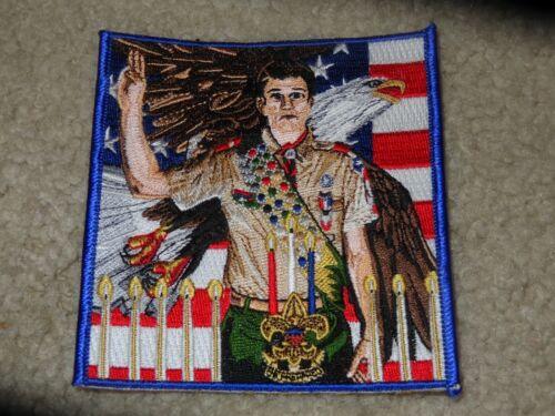 Boy Scout BSA Joseph Csatari Art Eagle Rank Flag Court of Honor Award Gift Patch