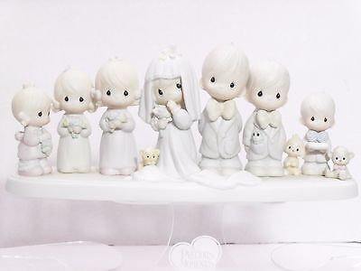 """PRECIOUS MOMENTS """"THIS IS THE DAY THE LORD HATH MADE"""" BRIDAL PARTY E-2838 LTD ED"""