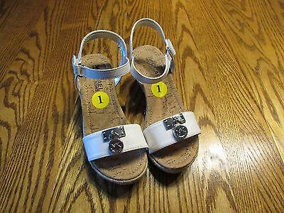 MICHAEL KORS DENISE WHITE Sandals GIRLS SIZE 1, NEW