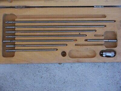 Scherr-tumico Inside Micrometer W 8 Rods Case