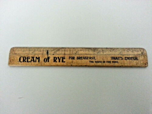 Vintage Cream Of Rye Ruler