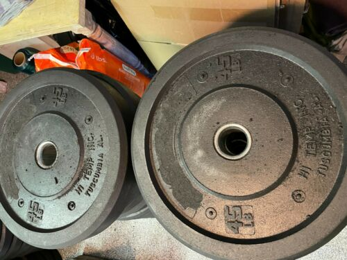 New Weight Set Hi-Temp or Rogue 45 # Olympic Rubber Bumper Plate Set 2x45
