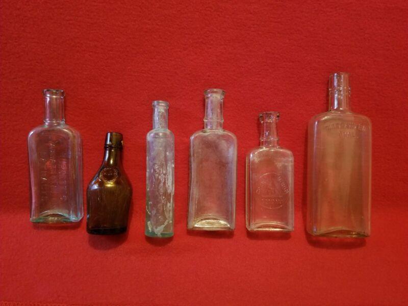 Antique Bottle Lot Of 6