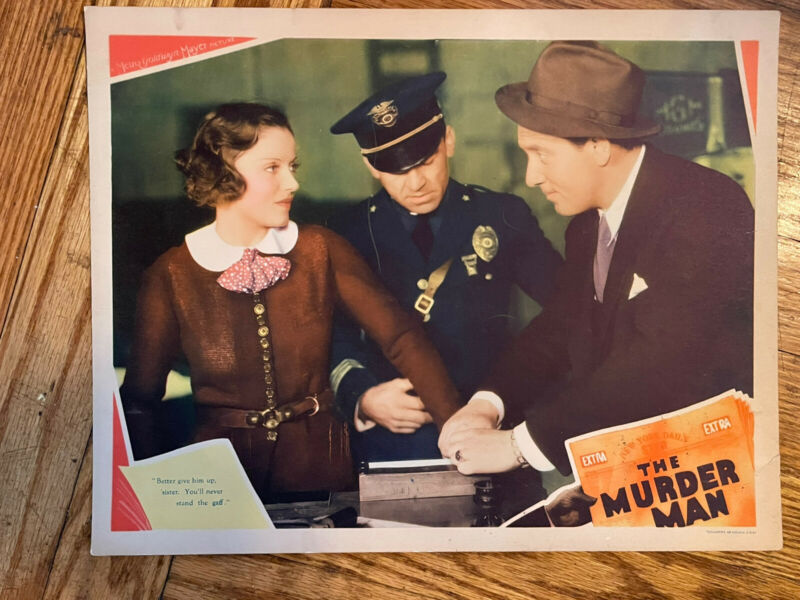 "Original 11 X 14"" Lobby Card MGM ""The Murder Man"" Spencer Tracy"