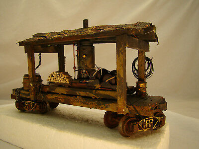 O scale Steam Donkey Logging Wench - custom weathered after historic pictures, used for sale  Shipping to Canada