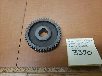 Reed Metal Lathe Change Gear 45t 12dp 1.00id 3.915od .94wd