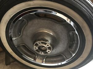 Two Road King wheels and tires