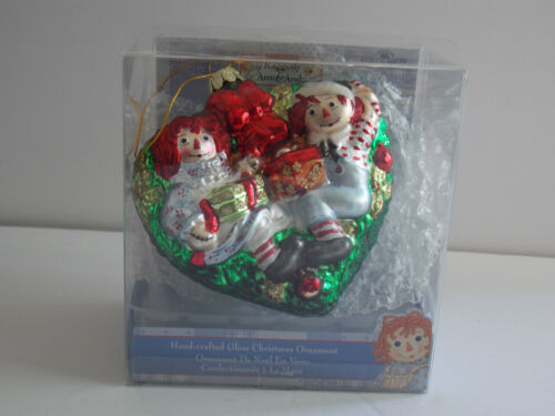 "KURT ADLER Hand-Crafted Christmas Ornament - ""Raggedy Ann & Andy"