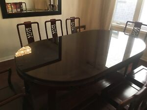 Solid Rosewood Dining Table and Chairs (8 seater)