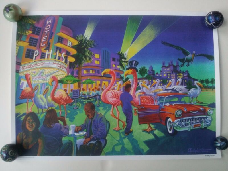 Phish Miami poster Christopher Peterson 2003 LE/1500