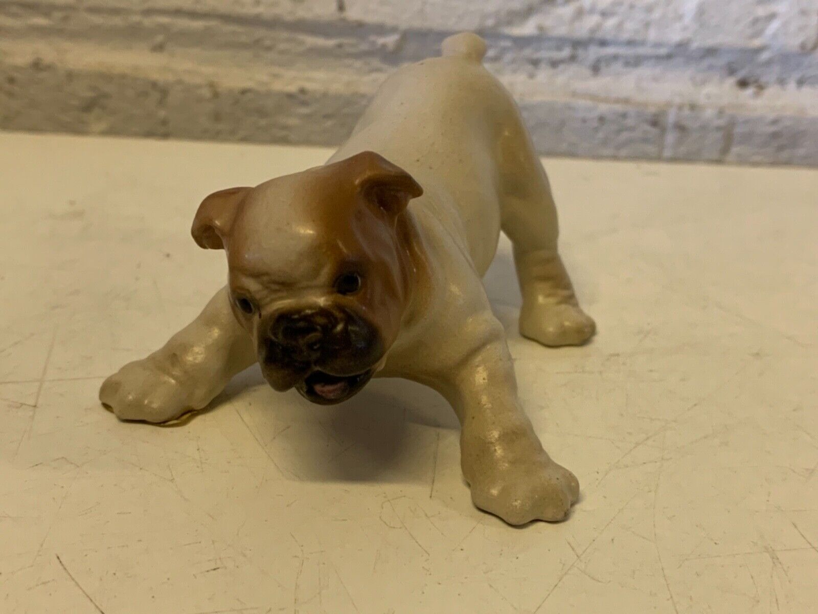 Vintage collection matte porcelaine hager-renaker nobby anglais bulldog figurine