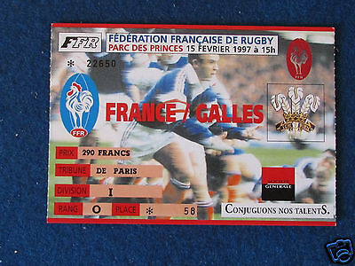 Rugby Union International Ticket - France v Wales - 15/2/97
