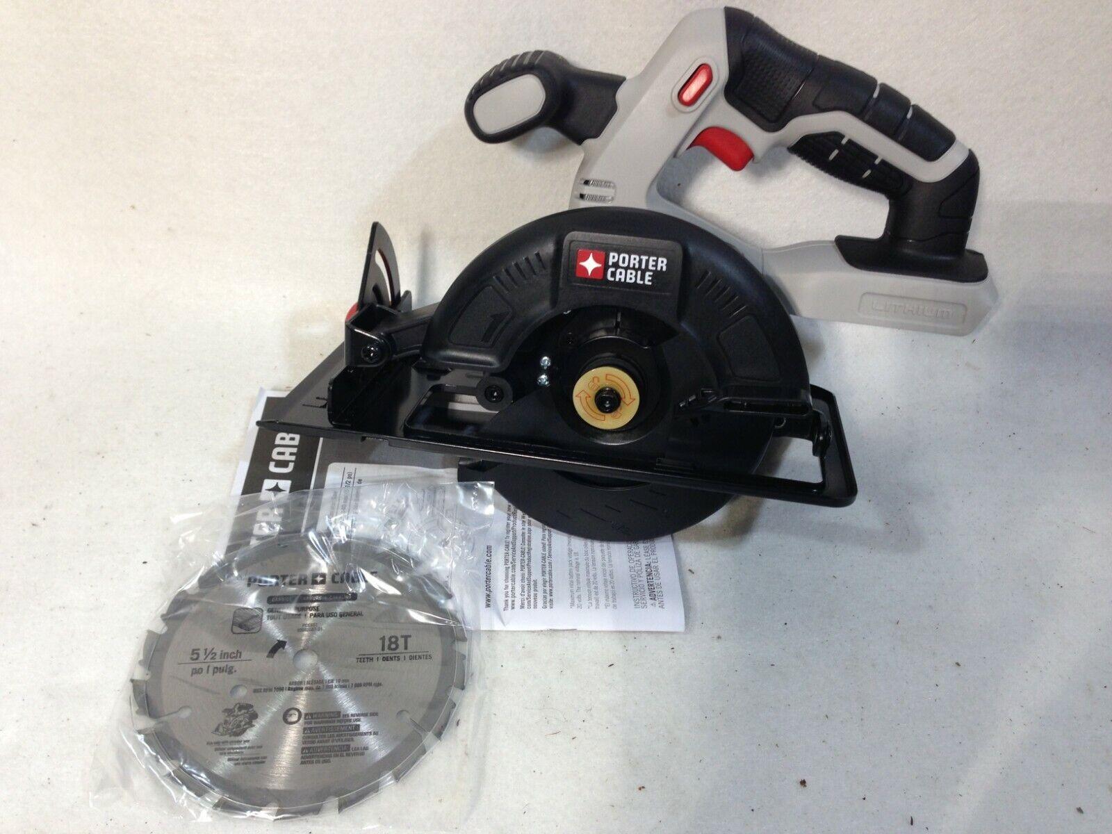 "Porter Cable PCC661 20V Cordless 5-1/2"" Circular Saw *Tool O"