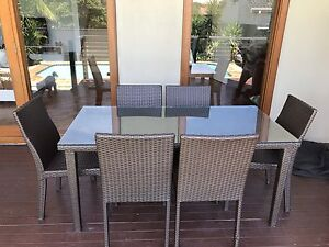 Wicker outdoor 7 piece dining setting Daceyville Botany Bay Area Preview