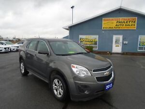 2013 Chevrolet Equinox LOW KM! GUARANTEED FINANCING BE APPROVED!