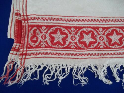 1876 Washington Elected President Towel Star Border fringe Linen Eagle Arrows
