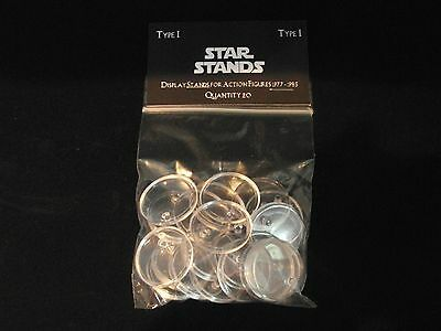 STAR WARS ACTION FIGURE DISPLAY STAND FOR VINTAGE FIGURES CLEAR X 20 T1c
