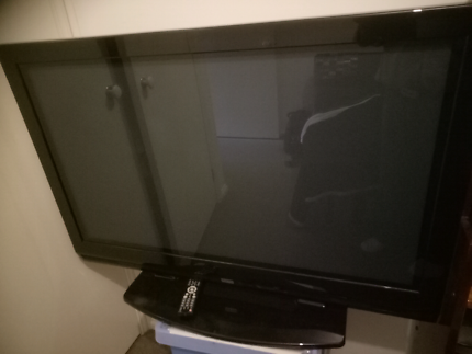 TV and VCR and DVD player