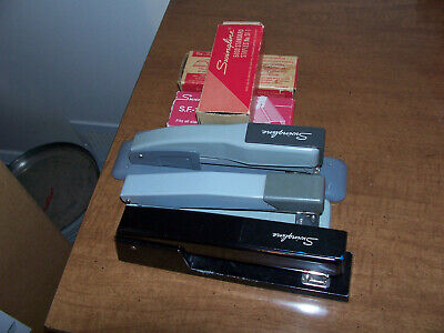 Vintage Lot Of Swingline And Bostitch Staplers Plus 3 Packs Of Staples