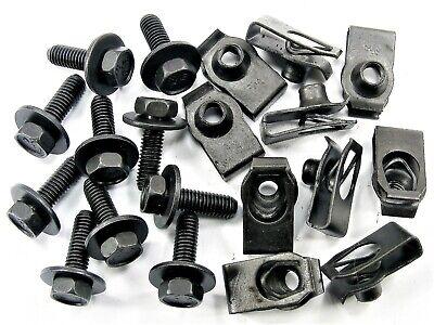 Body Bolts & U-nut Clips- M6-1.0 x 20mm Long- 10mm Hex- 20 pcs (10ea)- #150