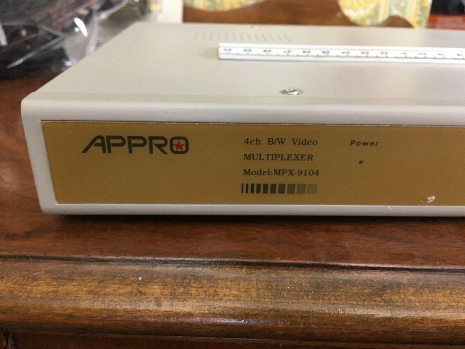 Appro ~ Model MPX-9104 ~ Black White Quad Processor ~ CCTV Surveillance ~ 4 CH