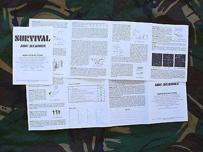 Penrith Survival Equipment/Survival Aids Ltd Survival Kit Aide-Memoire (E&E/SAS)