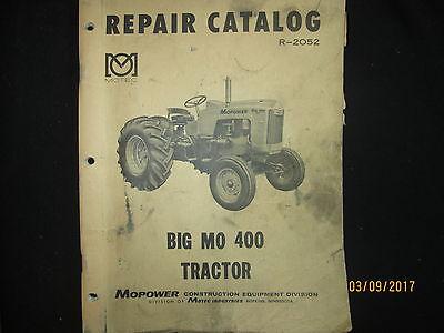 Minneapolis - Moline Big Mo 400 Tractor Repair Parts Catalog Manual Original Oem