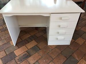 Office Study Desk - White with 4 x Draws Penrith Penrith Area Preview