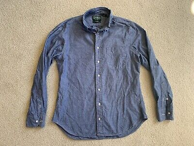 Gitman Vintage Chambray Oxford Button Down Shirt Medium Blue. M