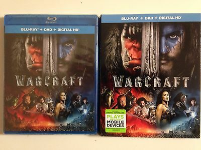 Warcraft  Blu Ray Dvd  2016  2 Disc Set  Includes Digital Copy W Slipcover