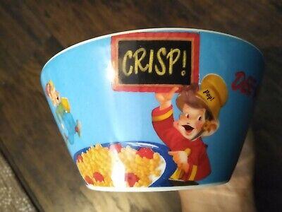 Vintage Kellogg's Rice Krispies Cereal Bowl SNAP CRACKLE POP ceramic blue 2006