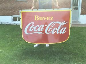 Double sided porcelain 1941 large Coca Cola sign Coke signs