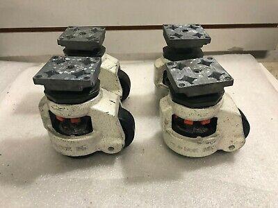 Set Of 4 Foot Master G-dok Ind Gd-80 Leveling Castors W67